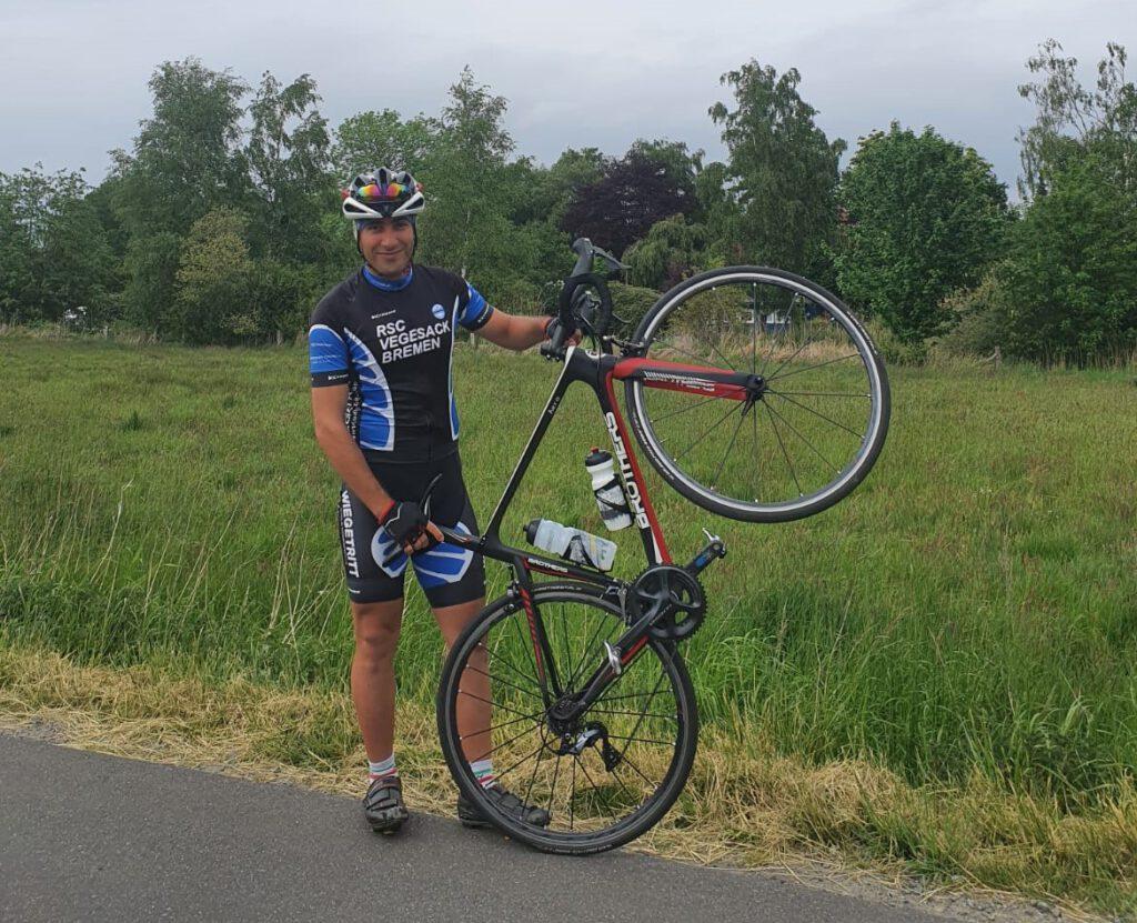 Saeed mit seinem neuen Rennrad